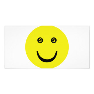 dollar smile icon photo greeting card