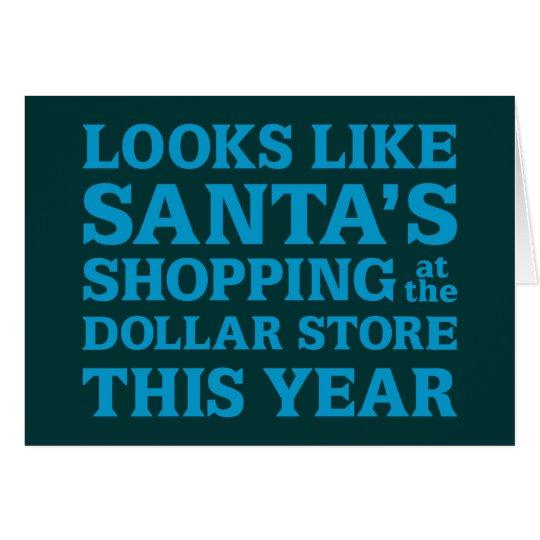 Dollar Store Santa Card