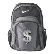 Dollar symbol nike backpack