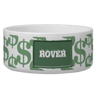 Dollar symbol pattern bowl
