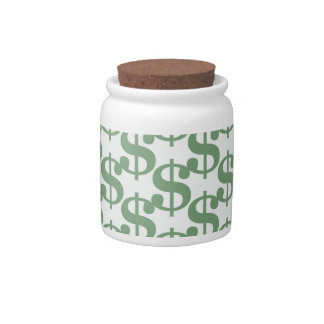 Dollar symbol pattern candy jar