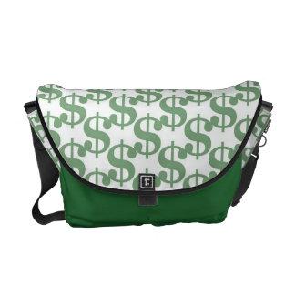 Dollar symbol pattern courier bag
