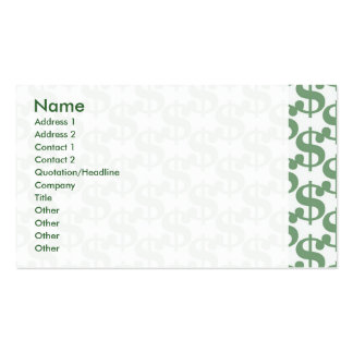 Dollar symbol pattern Double-Sided standard business cards (Pack of 100)