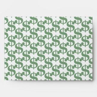 Dollar symbol pattern envelope