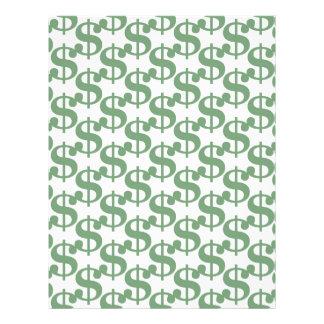 Dollar symbol pattern flyer