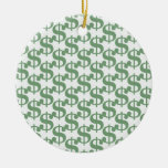 Dollar symbol pattern ornament