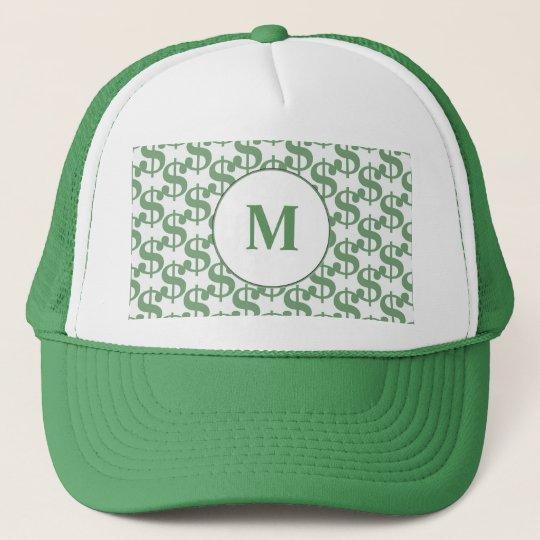 Dollar symbol pattern trucker hat