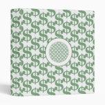 Dollar symbol pattern vinyl binders