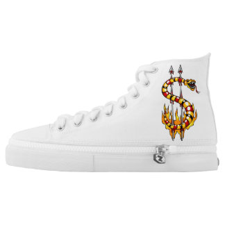 dollar symbol - snake shape High-Top sneakers