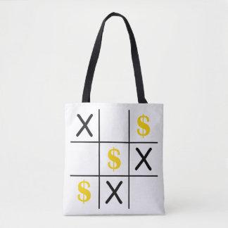 Dollar Tic Tac Toe Tote Bag