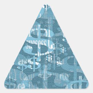 Dollar Triangle Sticker