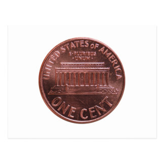 Dollar (USD) coin, currency of United States (USA) Postcard
