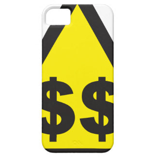 $$ Dollar Warning Sign iPhone 5 Covers