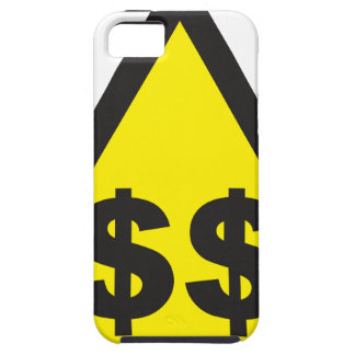 $$ Dollar Warning Sign iPhone 5 Cases