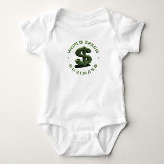Dollar World Green Business Baby Bodysuit