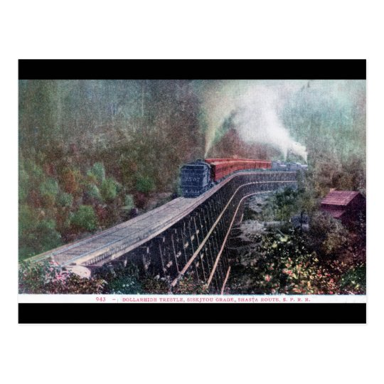 Dollarhide Trestle, Shasta Route, Southern Pacific Postcard