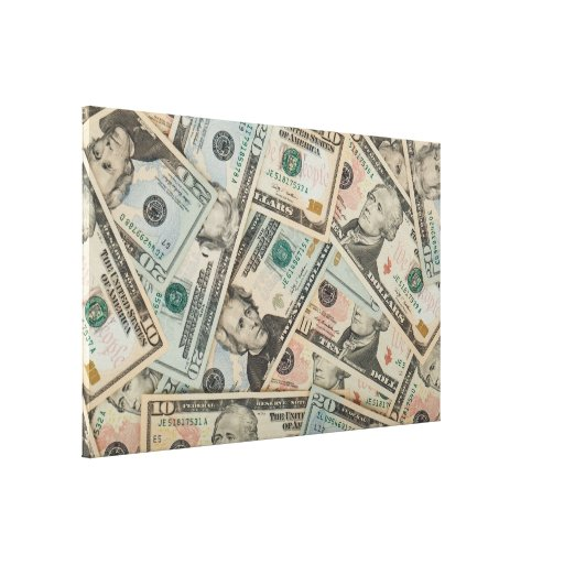Dollars Background Canvas Print