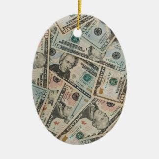 Dollars Background Ornament