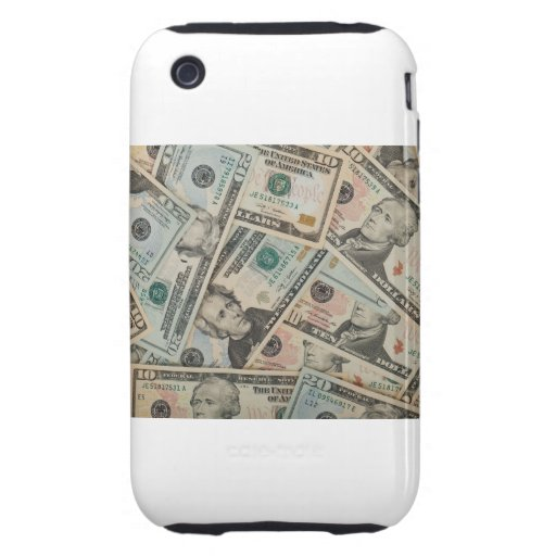 Dollars Background Tough iPhone 3 Case