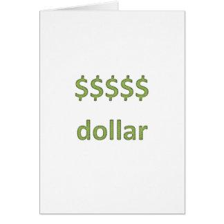 Dollars Retro Style 2 Greeting Cards