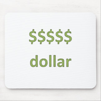 Dollars Retro Style 2 Mouse Pad