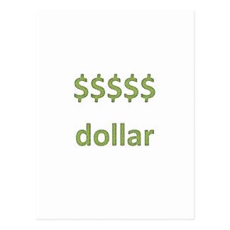 Dollars Retro Style 2 Postcard