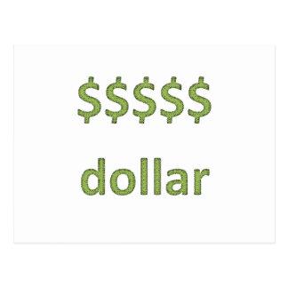 Dollars Retro Style 2 Post Card