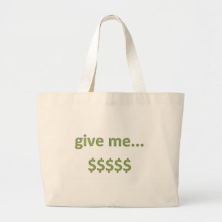 Dollars Retro Style 4 Large Tote Bag