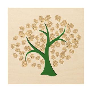 Dollars tree wood print