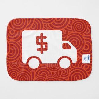 Dollars Trucks Sign Burp Cloth