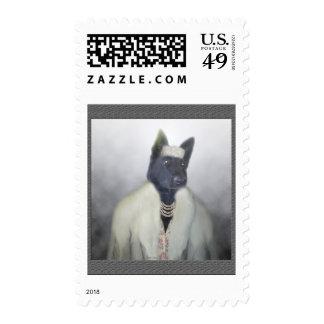 Dolled encima del perrito sello