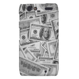 doller bills money stacks cash cents motorola droid RAZR cover