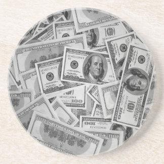 doller bills money stacks cash cents drink coasters
