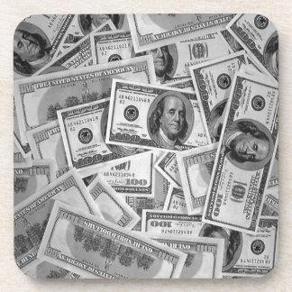 doller bills money stacks cash cents coaster