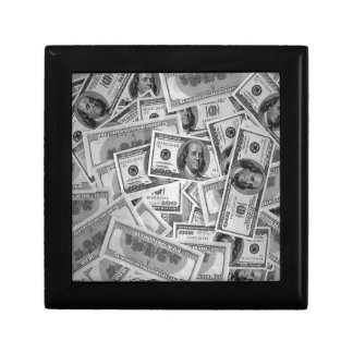 doller bills money stacks cash cents trinket box