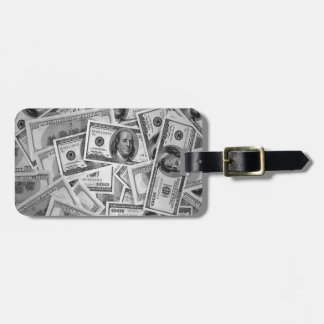 doller bills money stacks cash cents luggage tags