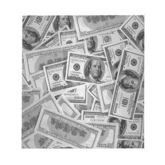 doller bills money stacks cash cents scratch pad