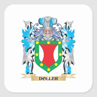 Doller Coat of Arms - Family Crest Square Stickers