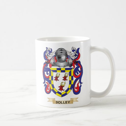 Dolley Coat of Arms Coffee Mugs