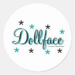 Dollface Round Stickers