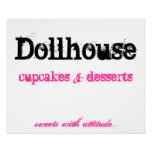 Dollhouse , cupcakes     desserts, print
