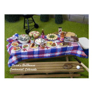 Dollhouse Summertime Picnic Postcard
