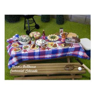Dollhouse Summertime Picnic Postcard