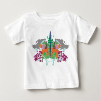 Dollie Yamma color front BW back - Baby Tee