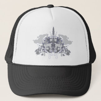 Dollie Yamma Grayscale Blue outliner Hat Cap