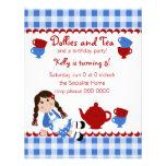 Dollies Tea Party Personalized Announcement