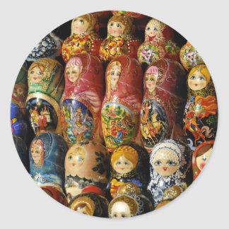 Dolls Classic Round Sticker