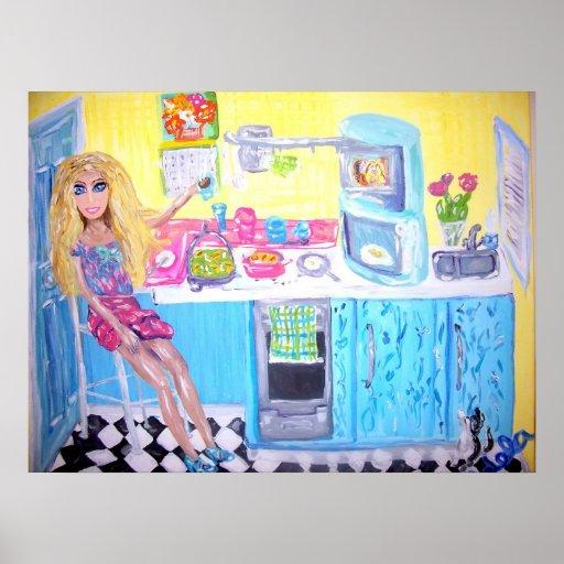 """Doll's Coffee Break"""" Poster"""