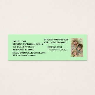 DOLLS DOLL BUSINESS CONTACT INFO  ~ BOOKMARK CARD