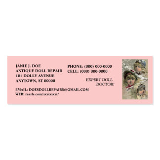 DOLLS DOLL BUSINESS CONTACT INFO  ~ BOOKMARK CARD BUSINESS CARD TEMPLATES